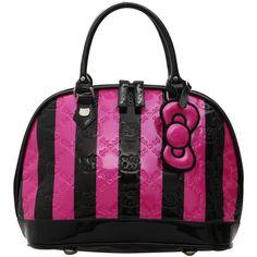 Hello Kitty Pink And Black Handbag