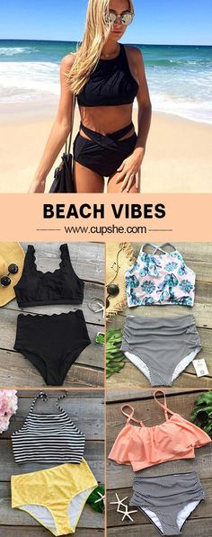 Treat Yourself Something Special! High-waisted swimwear is certainly a staple through out the whole beach season. Meet the beach scene, and you can't let the trend fade. Check them out at Cupshe.com