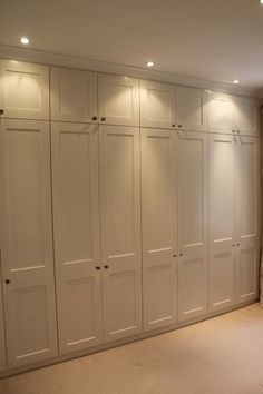 This style of wardrobe with lights above wardrobes as room is quite dark