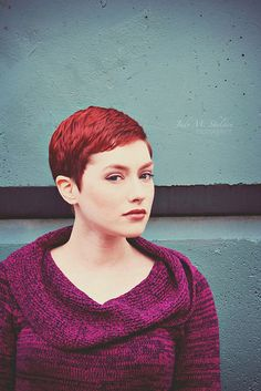 Super short pretty pixie hair - I wonder if I could pull this look of? I do not want my pixie too short! Cute Hairstyles For Short Hair, My Hairstyle, Pixie Hairstyles, Short Hair Cuts, Short Hair Styles, Natural Hair Styles, Red Pixie Cuts, Pixie Haircuts, Love Hair