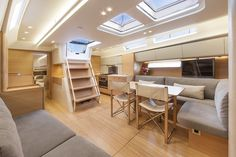 Nautor's Swan Swan 60 FD Salon See more of her here: Sailboat Interior, Yacht Interior, Interior Design, Yacht Builders, Electric Boat, Yacht Design, Motor Boats, Water Crafts, Home Goods