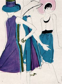 Mouchy Illustration 2 Illustration for French Vogue. From Gebrauchsgraphik No. 2, 1966. Fashion design Fashion illustration