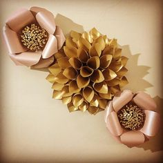 "232 Likes, 3 Comments - Flores Con Papel (@floresconpapel) on Instagram: ""Pink and Gold 💝 #floresdepapel #floresconpapel #flowerpapers #paperflowers #hechoamano #decoracion…"""