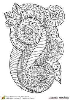 Doodle Abstract Coloring pages colouring adult detailed advanced printable Kleuren voor volwassenen coloriage pour adulte anti-stress superbes mandalas abstrait