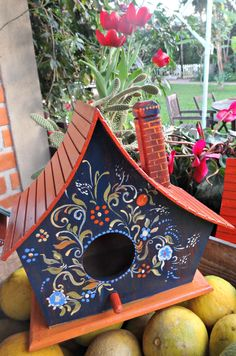 Handpainted Birdhouse