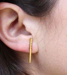 Braque Brass Earrings