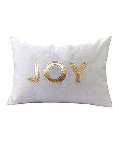 Look at this Gold 'Joy' Linen-Blend Pillow on #zulily today!
