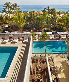 Hottest New Beach Hotels: James Royal Palm, Miami, Florida.