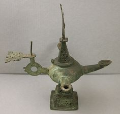 Three-Spouted Oil Lamp