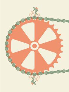 Ride the chain Ride the crank Bike, bici, velo http://www.tumblr.com/blog/o-kathy/3