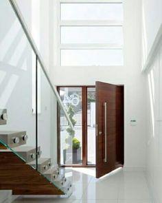 Madera y vidrio