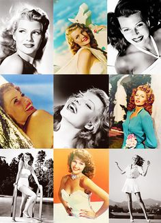 """""""All I wanted was just what everybody else wants, you know, to be loved."""" - Rita Hayworth"""