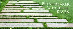 Geniesser-Garten : Befahrbarer Rasen - Schotterrasen fuer unsere Zufahrt Lawn And Garden, Home And Garden, Driveway Design, Traditional Landscape, Outdoor Living, Outdoor Decor, Cool Landscapes, Urban Landscape, Backyard Landscaping