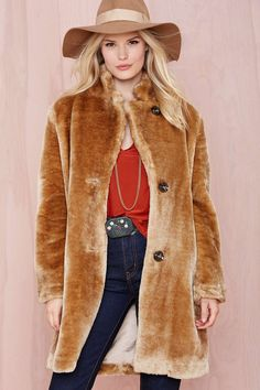 nasty gal. butter me up faux fur jacket. #fashion