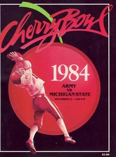 Official Program Inaugural Cherry Bowl 1984: Michigan State vs. Army
