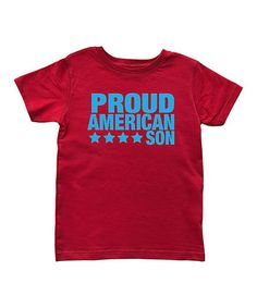 Red & Blue 'Proud American Son' Tee - Toddler & Boys