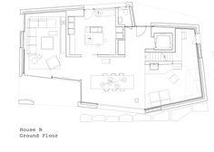 villa ensemble - zurich - andreas fuhrimann + gabrielle hächler + soius + kessler kessler - house b gf plan