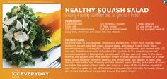 Try making this delicious squash salad for dinner! The flavors of the kale, parmesan, and squash create a unique blend that is perfect for #autumn & #NationalKaleDay!