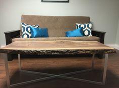 Live edge walnut coffee table Walnut Coffee Table, Coffee Tables, Live Edge Table, Furniture, Home Decor, Homemade Home Decor, Living Room End Tables, Home Furnishings, Decoration Home