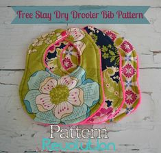 Free stay dry bib pattern and giveaway