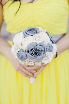 Fabric Bouquet, Hand Bouquet, Small Bouquet, Boho Wedding Bouquet, Bridesmaid Bouquet, Bridal Bouquets, Bridesmaids, Wedding Flowers, Engagement Inspiration