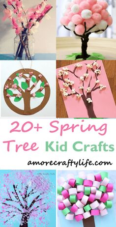 Make a spring tree craft. Spring Tree Crafts – 20 Plus Kids Crafts - A More Crafty Life Spring Activities, Craft Activities For Kids, Preschool Crafts, Easter Crafts, Kids Crafts, Craft Projects, Craft Ideas, Spring Craft Preschool, Play Ideas
