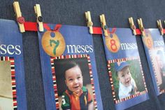 love this banner, with pictures of each month, for a boy's first birthday party www.spaceshipsandlaserbeams.com