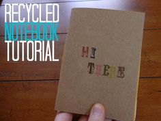 Diy back to school : DIY Create a Recycled Notebook with EEF.
