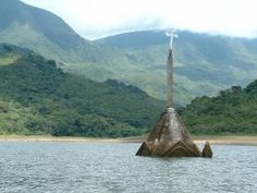 Photo essay of drowned churches. I'd love to go scuba diving around in one of these!