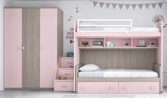 Risultati immagini per camas literas Baby Bedroom, Baby Room Decor, Girls Bedroom, Bunk Bed Rooms, Kids Bunk Beds, Home Room Design, Kids Room Design, Bedroom Furniture, Bedroom Decor