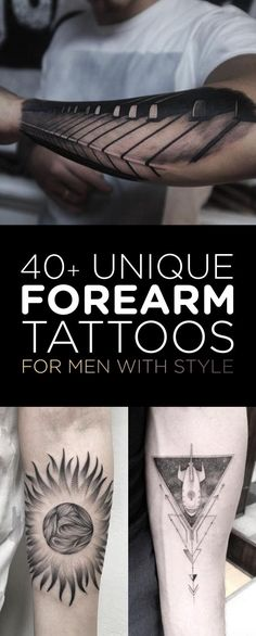 40+ Unique Forearm Tattoos for Men With Style