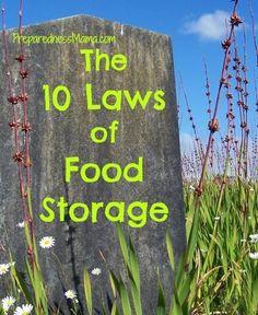 Day 16 Challenge: The 10 Laws of Food Storage | PreparednessMama