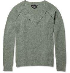 Burberry ProrsumCashmere V-Neck Sweater