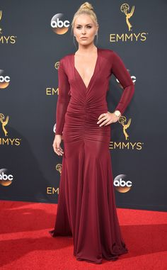 Lindsey Vonn from 2016 Emmys Red Carpet Arrivals  In Stello
