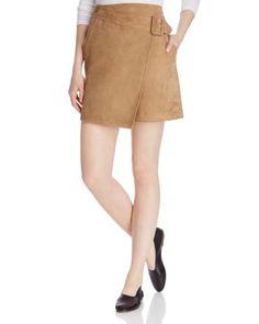 Vince Suede Wrap Skirt   bloomingdales.com