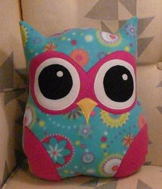 Sewing Patterns For Pillows Decorative | Bright Eyes the Owl ... by Toadally Quilts | Sewing Pattern