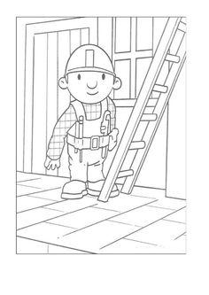 Byggmester Bob Fargelegging for barn. Tegninger for utskrift og fargelegging nº 1