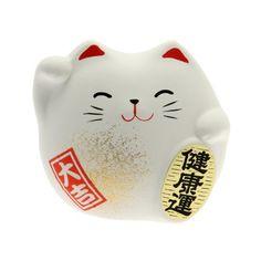 Kotobuki Maneki Neko Charm Kenkoh-un Collectible Figurine, Good Health, White Kotobuki http://smile.amazon.com/dp/B00CBECPO2/ref=cm_sw_r_pi_dp_IVZnub057MP6C