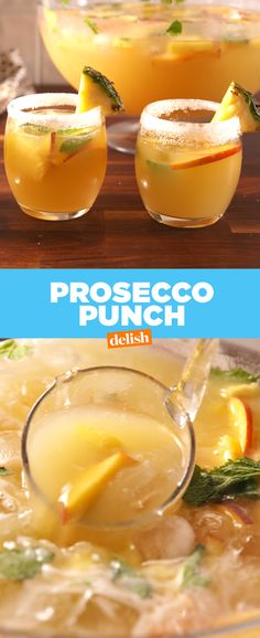Prosecco Punch will knock out your whole crew. Get the recipe from Delish.com.