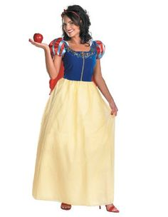 disguise costumes snow white deluxe costume adult small 46 click image to review more - Modest Womens Halloween Costumes