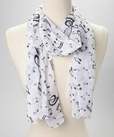 Musical Notes Scarf. http://www.pinterest.com/TheHitman14/hey-ladies-jewelry-clothes-and-accesories-in-music/