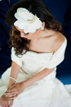 The JOYCE bridal headpiece bridal fascinator by jamieslyedesigns
