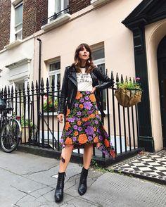 #Warehouse Skirt, #Topshop Boots, #Allsaints Jacket     @meganellaby