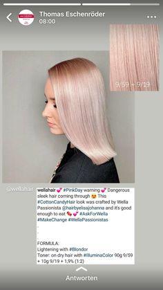 Hair Color Balayage, Blonde Color, Wella Illumina Color, Hair Color Formulas, Hair Illustration, Glossy Hair, Colorista, Hair Color Techniques, Corte Y Color