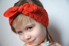 Toddler Head Warmer Crochet girls Ear Warmer by BambinoStore
