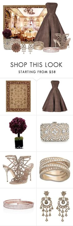 """""""Vintage Cocktails"""" by lisa-gibbs-harden ❤ liked on Polyvore featuring Nourison, Reception, Emma Domb, Hervé Gambs, MANGO, Sergio Rossi, Swarovski, Ingenious Jewellery, Petralux and WALL"""