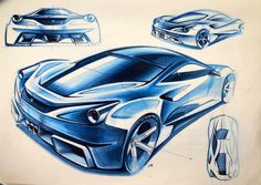 Rear proposal for the next generation ferrari's mid engine, by P. Bike Sketch, Car Sketch, Automobile, Industrial Design Sketch, Car Design Sketch, Cool Sports Cars, Car Illustration, Car Drawings, You Draw