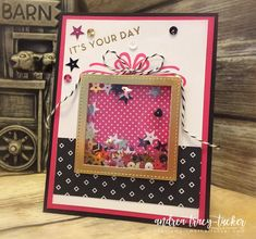 Big On Birthdays, Birthday Cards, Pop of Pink, Shaker Cards, Stamp Ink Paper Challenges, Stampin Up