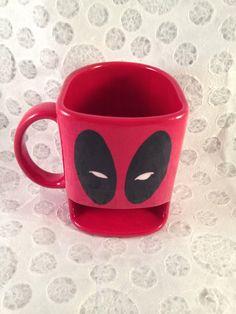 Deadpool dunk mug by HandPaintedNerd on Etsy