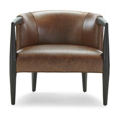 Fleming Leather Chair   Mitchell Gold + Bob Williams